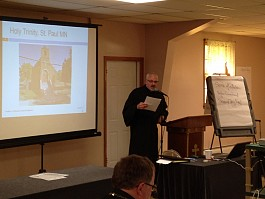 Fr Jonathan Proctor shared the story of Holy Trinity Church St Paul MN